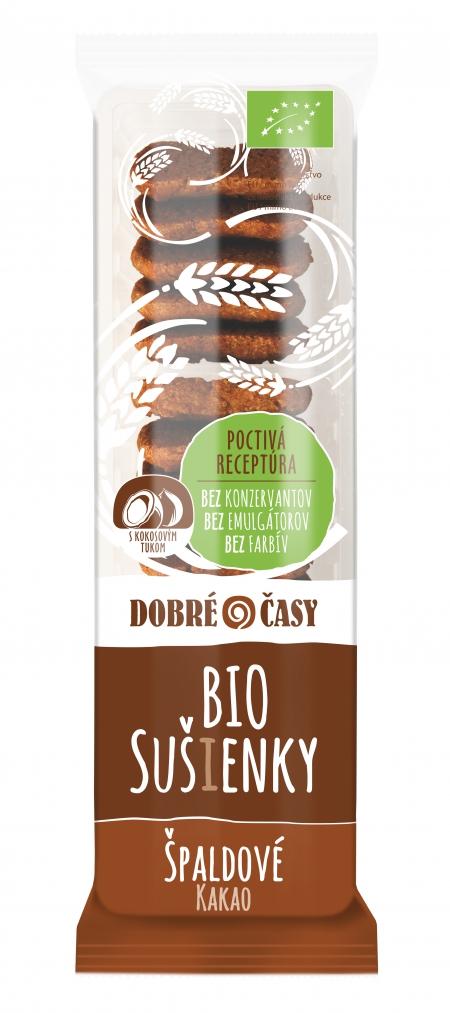 Špaldové bio sušienky Kakao – 100g